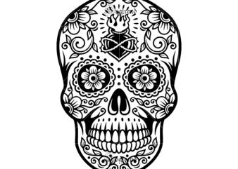 Halloween Sugar Skull Svg Sugar Skull Vector Sugar Skull Logo Skull Logo Skull Png Skull Svg Skull Vector Sugar Skull Art Vector Sugar Skull With Flowe Skull Tattoos Skull Skull Art