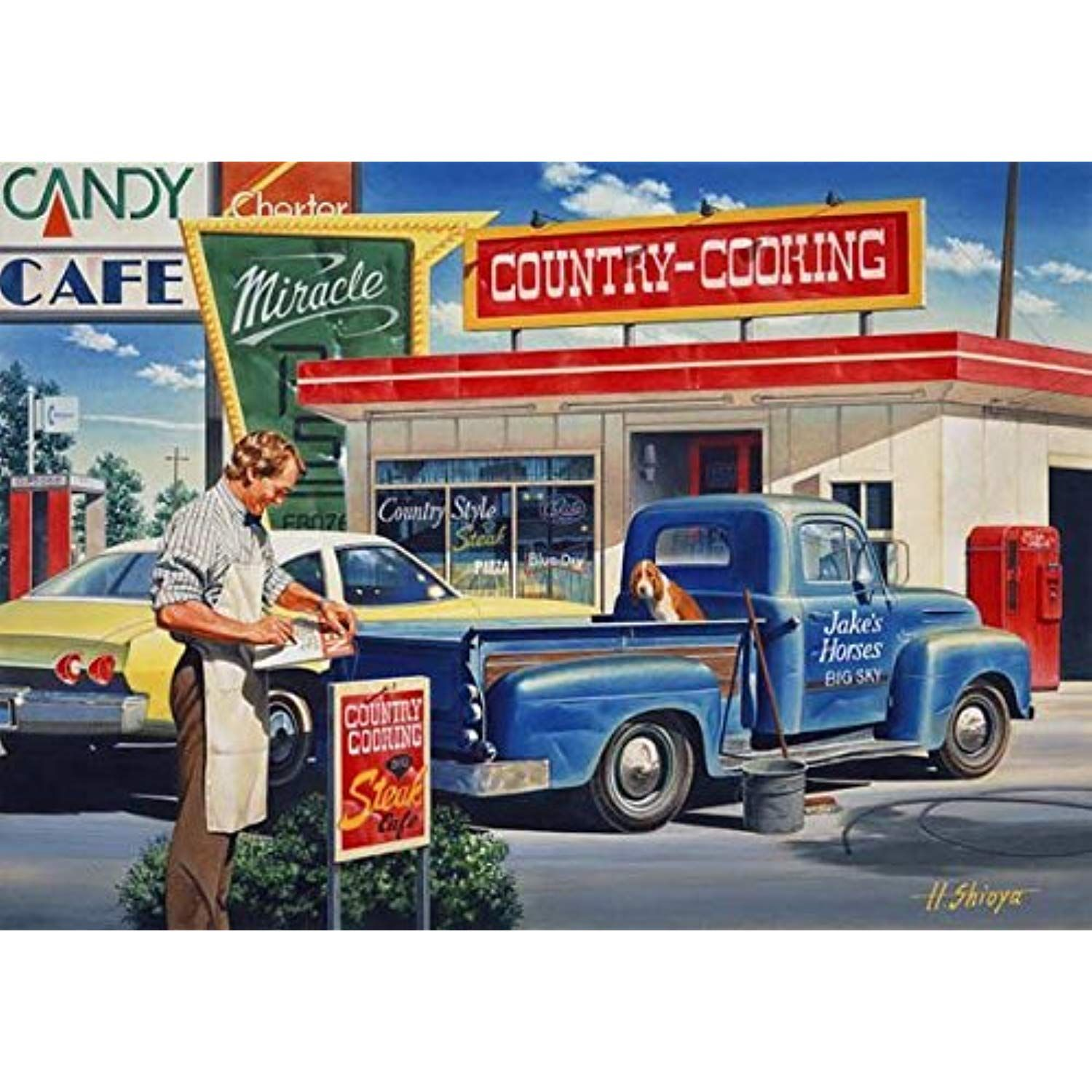 Country Cooking 550 Pc Jigsaw Puzzle Want To Know More Click On The Image This Is An Affiliate Link Country Cooking Retro Cars Truck Art