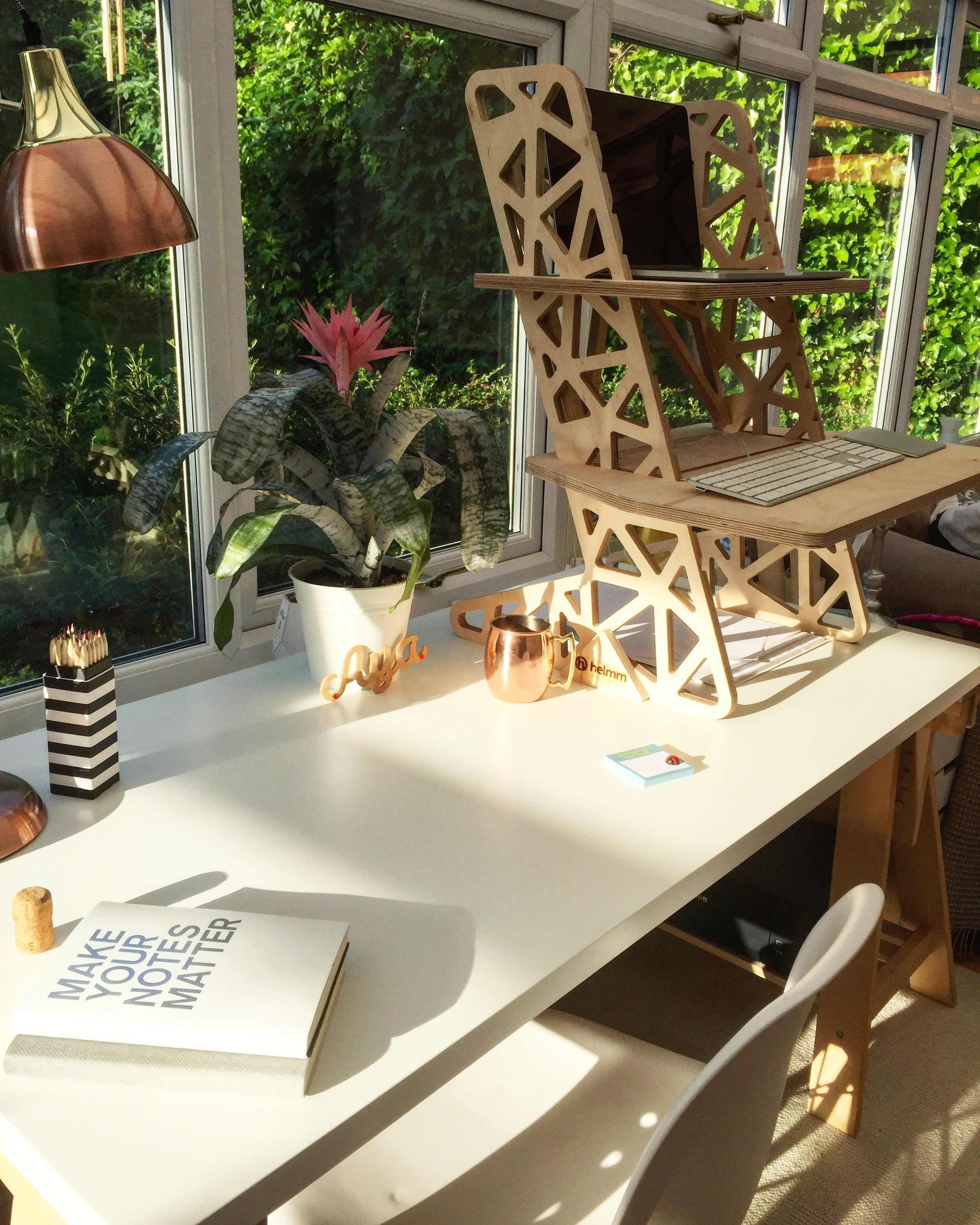 lovely home office setup. Lovely Office Setup - Sit Stand Work Station Featuring A Helmm Standing Desk. Home