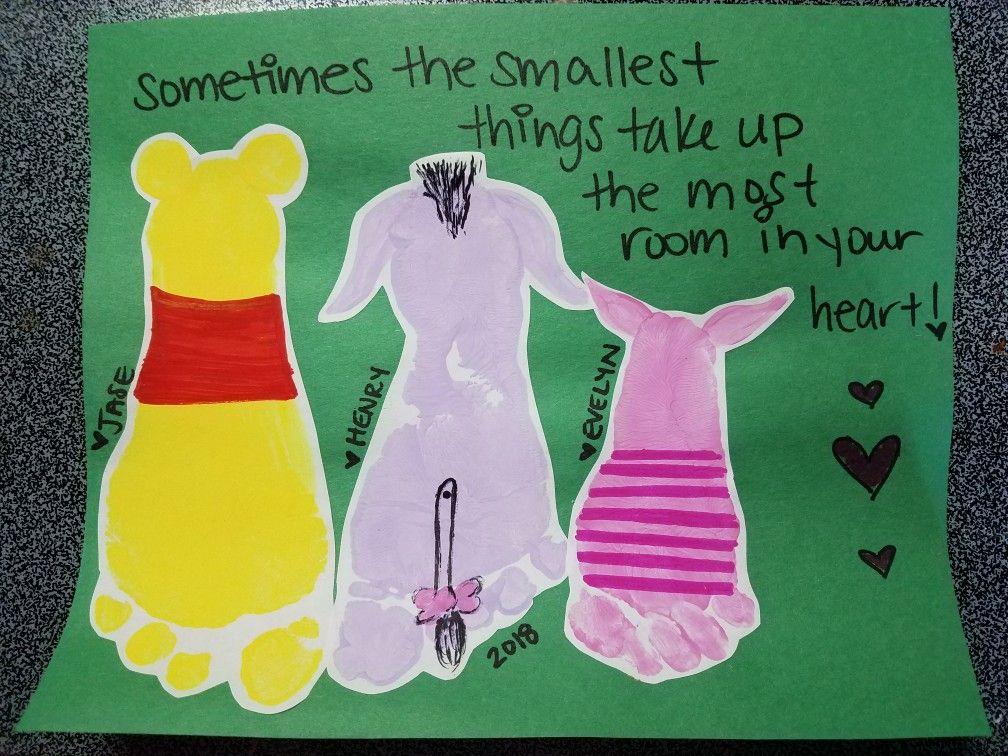 Winnie The Pooh Footprint Art Toddler Art Toddler Art