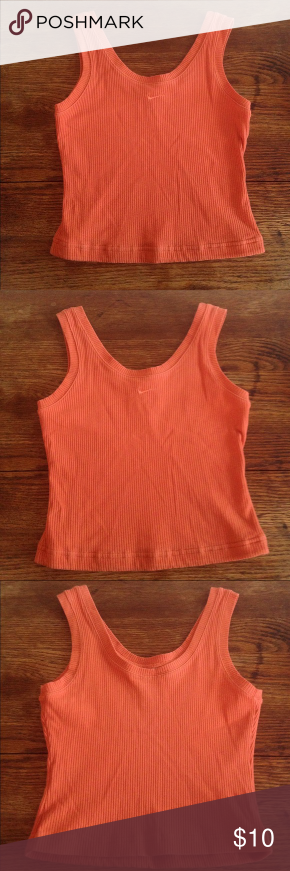 Nike orange sports tank size xs (0-2) Nike orange sports tank size xs (0-2) , cotton, nylon, spandex blend Nike Tops Tank Tops