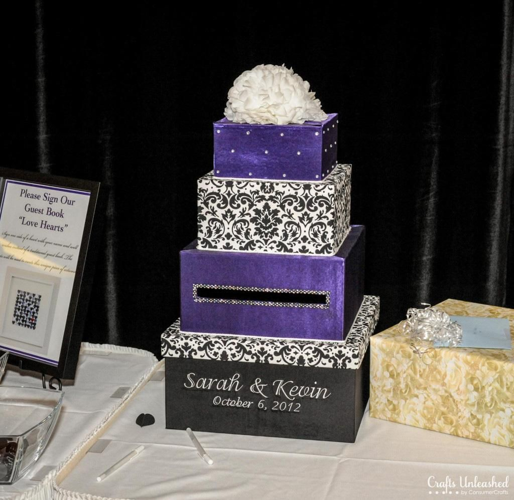 Diy Card Box Wedding Diy 4 Tier Fabric Covered Wedding Card Box