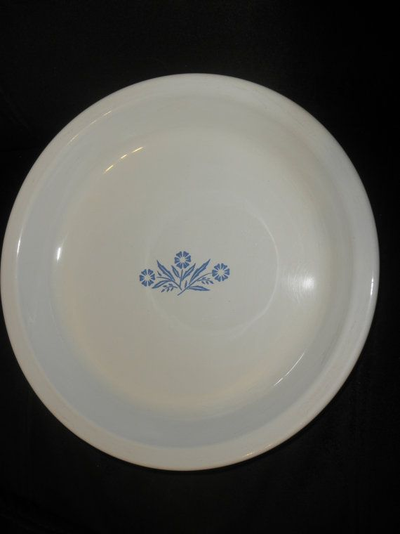 Vintage Cornflower Pie Plate by corning by TeresaScholleDesigns, $7.00