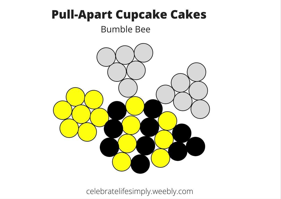 spider pull apart cupcake cake templates