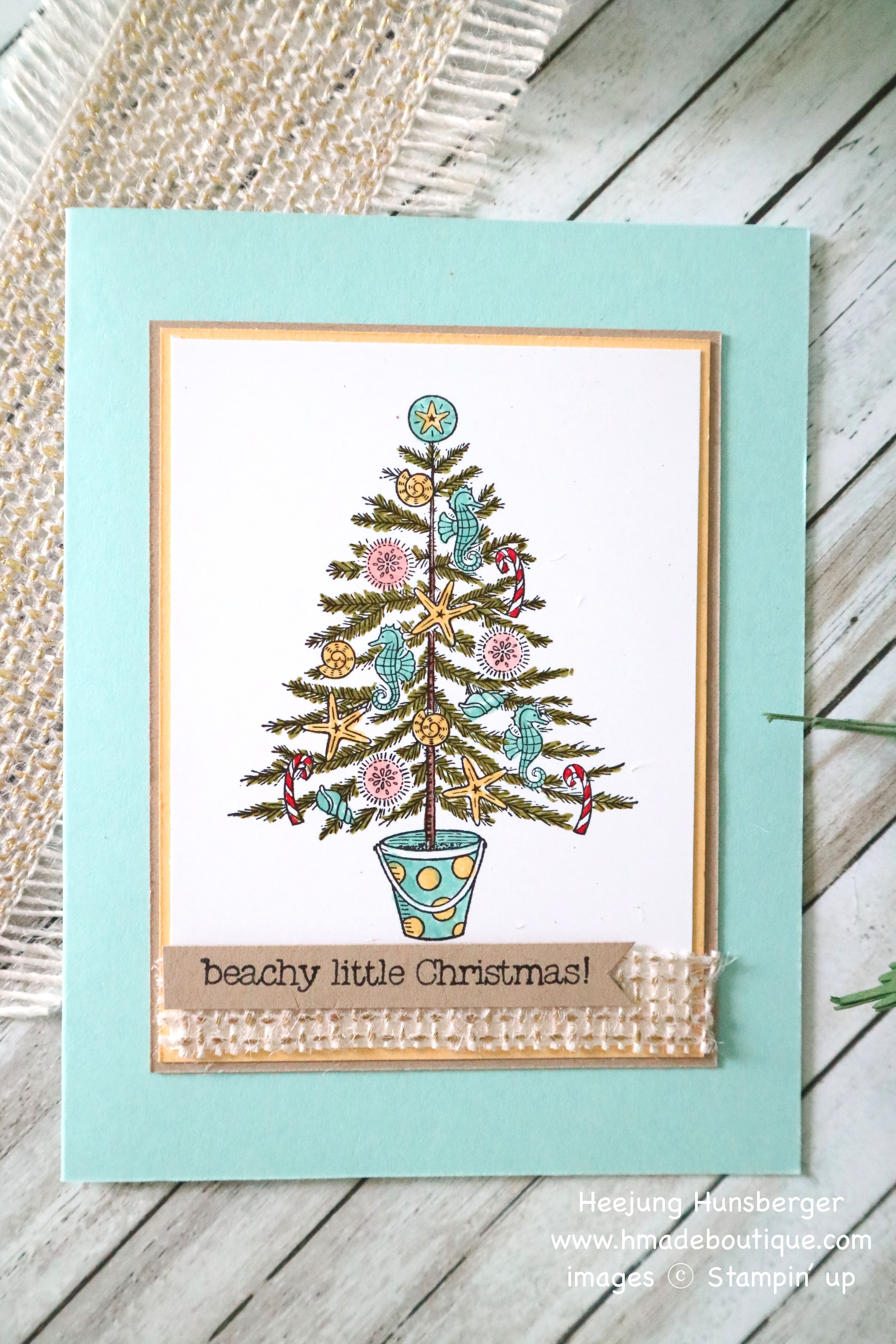 """So excited to use new stamp set """" Beachy Little Christmas"""" I always"""