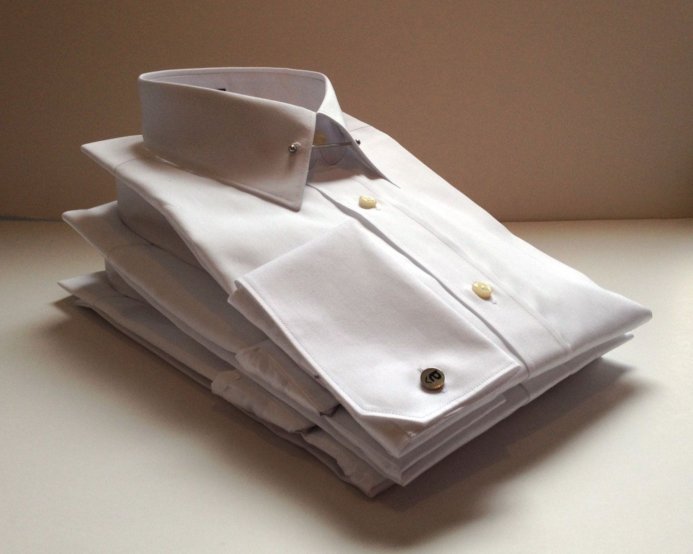 The classic Royal Poplin white dress shirt made from Egyptian cotton. What makes ours different is quality tailoring and materials for just $59 at AlaraShirt.com