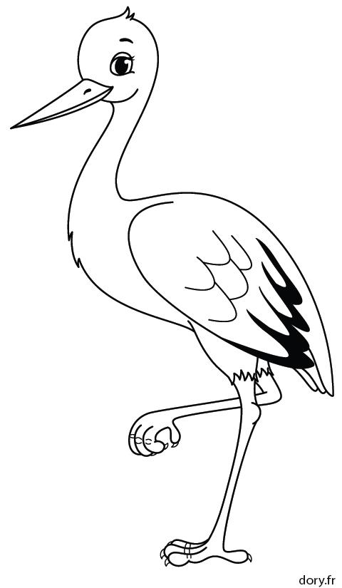Dessin colorier une cigogne coloriages pinterest dessin coloriage et colorier - Cigogne dessin ...