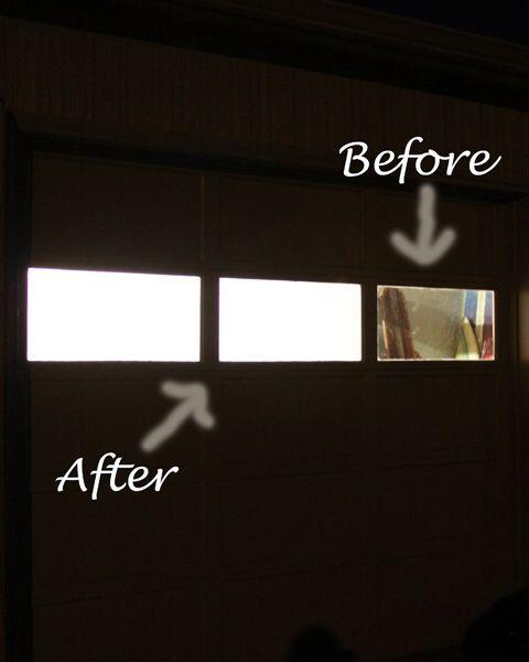 Frost The Garage Door Windows Let Light In And Block Unwanted