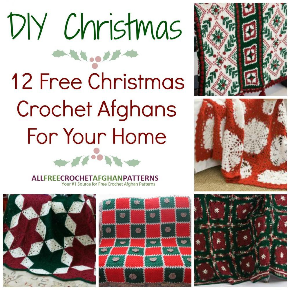 DIY Christmas: 21 Free Christmas Crochet Afghan Patterns For Your Home