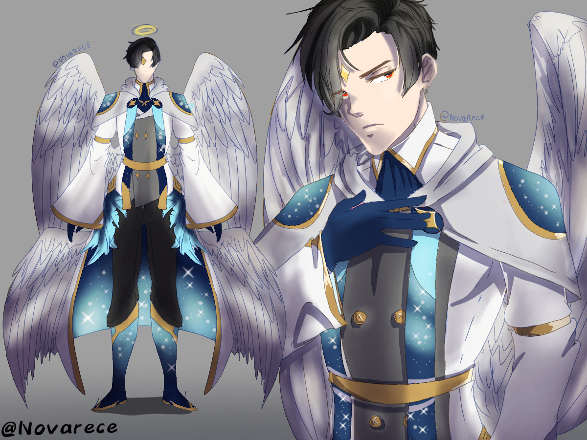ʏᴇs. — Did an angel design for lucifer from obey me Did