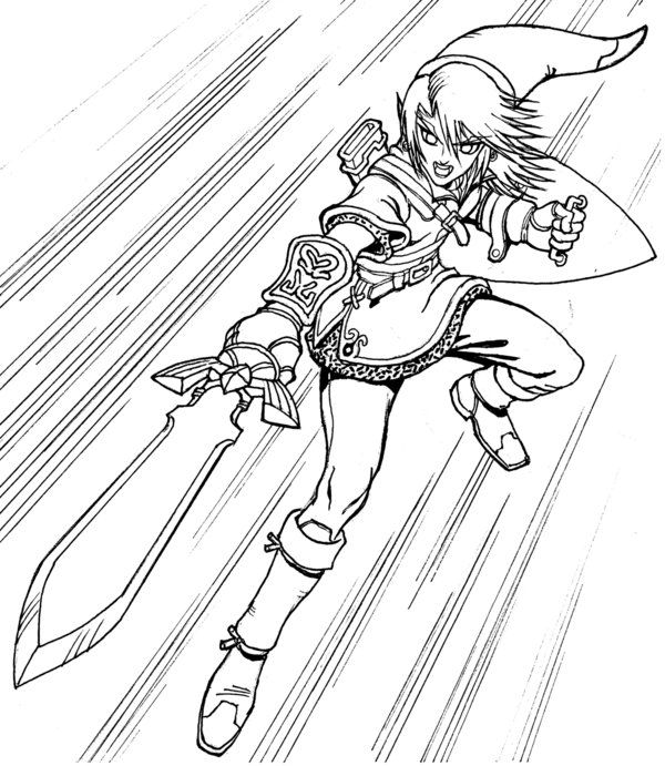 Link And Zelda Coloring Pages | Coloring Pages | Pinterest