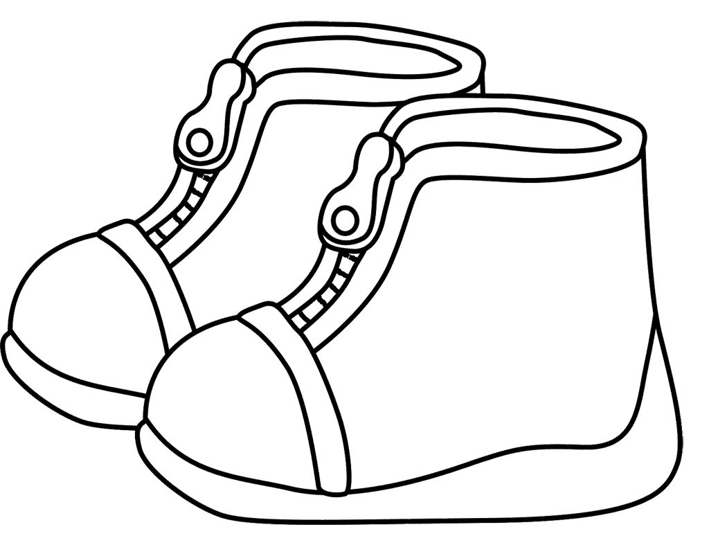 Childrens Winter Boots Coloring Page | Kids Coloring Pages | Pinterest