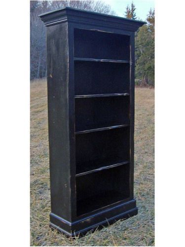 Country Farm Bookcase Blackberry Closed Base Light Rub