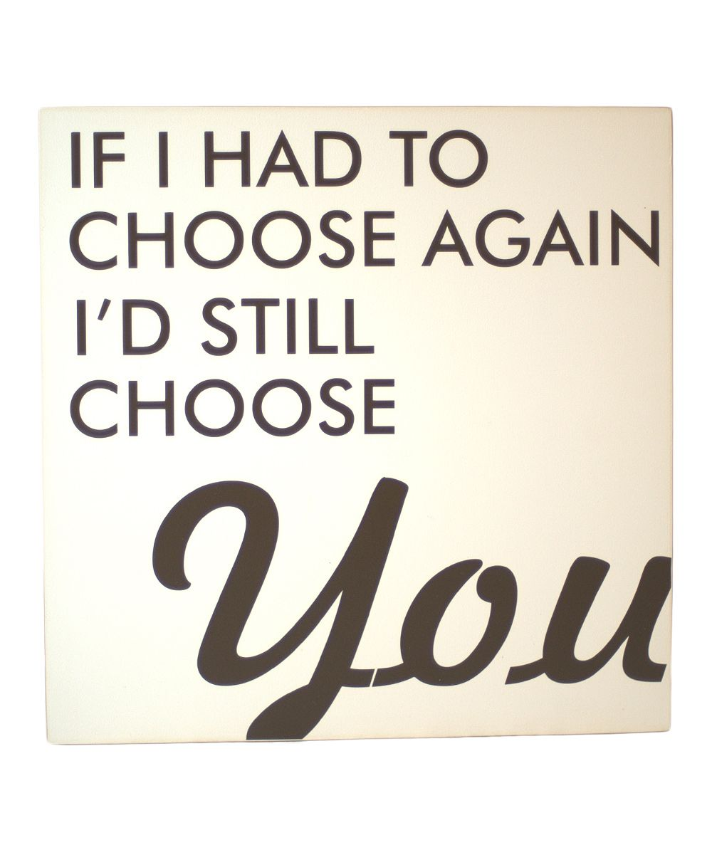 Cream & Brown 'Choose Again' Wall Art. For the bedroom
