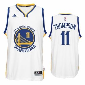 competitive price df89c 66b41 Klay Thompson Jersey: adidas White Swingman #11 Golden State ...