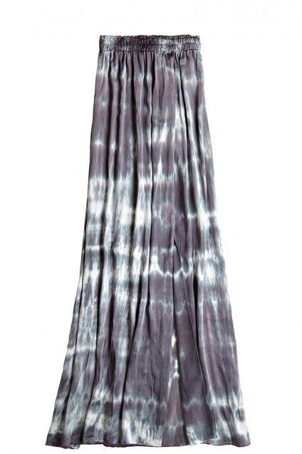 Tie Dye Silk Maxi Skirt