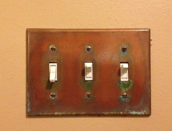 Aged Copper Light Switch Plate