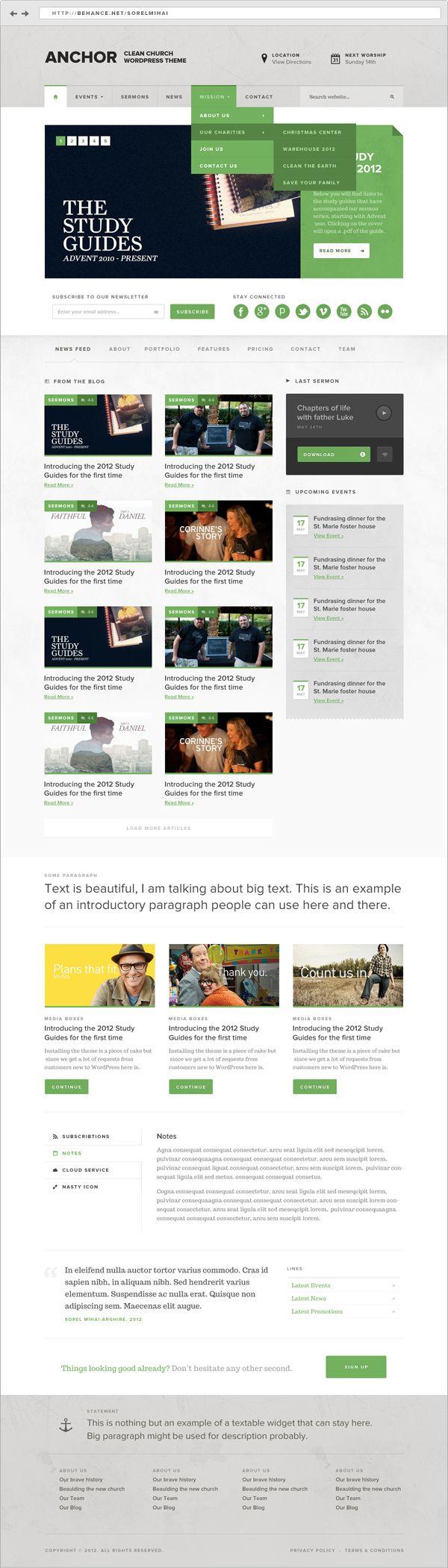 Anchor By Sorel Mihai Arghire Via Behance News Web Design Web Development Design Web Design Gallery