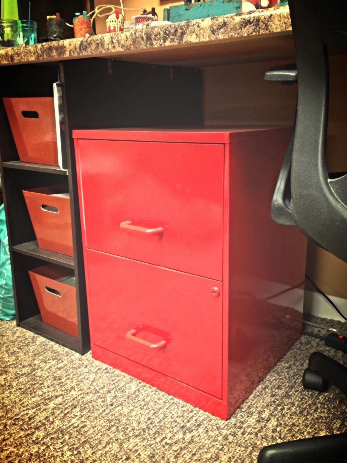 Fun File Cabinet Redo for $6 Della fice playroom