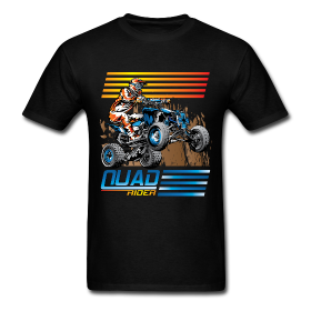 Do you like ATV shirts? Do you like sports shirts? Then you will like this. This is a very cool shirt with colorful fashion. You can purchase it @ http://offroadstyles.spreadshirt.com/quad-rider-A16814356/customize/color/2