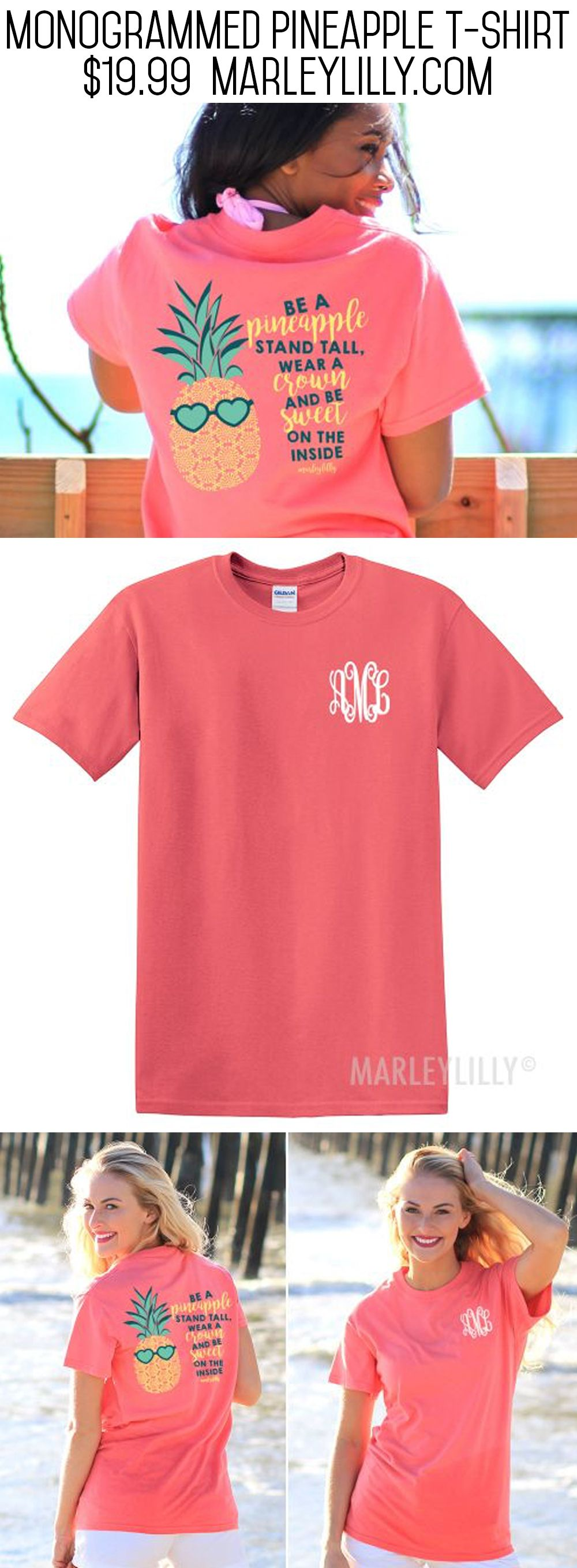 Design your own t shirt virtual - Get This Monogrammed Pineapple T Shirt While You Can Before They Are