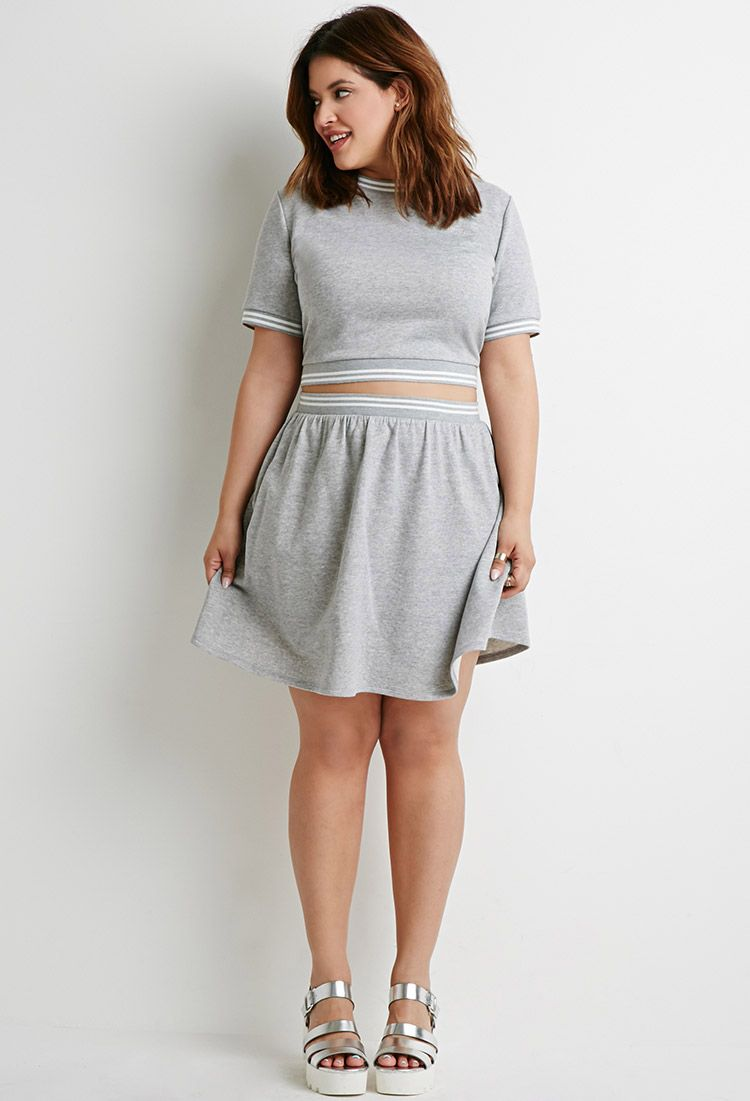 Varsity-Striped Skirt  7ad969127964