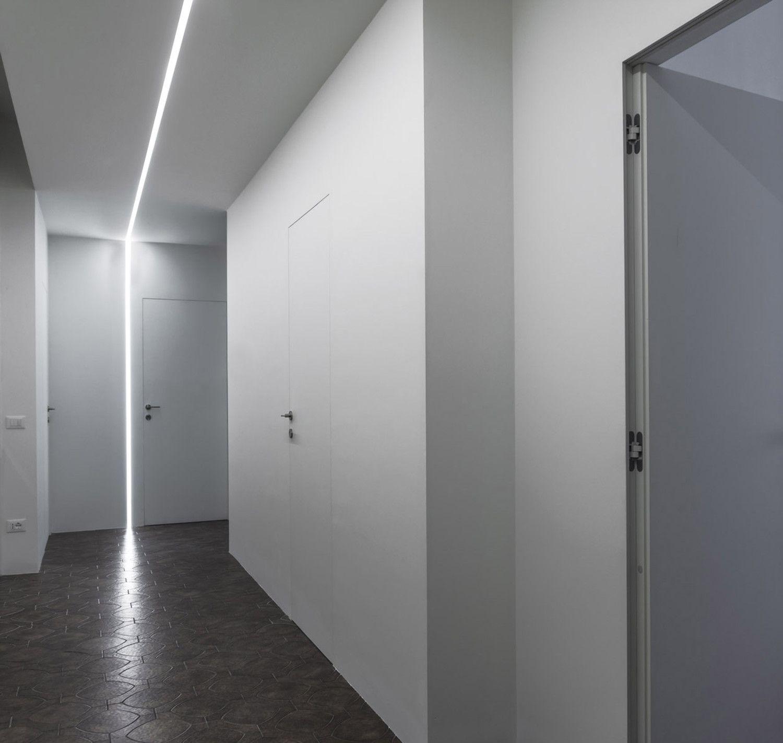 minima roma porte filomuro striscia led minimalismo with architetti roma