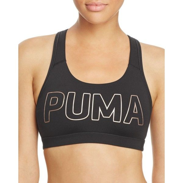11d7d9896b Puma Powershape Forever Logo Sports Bra (995 THB) ❤ liked on Polyvore  featuring activewear
