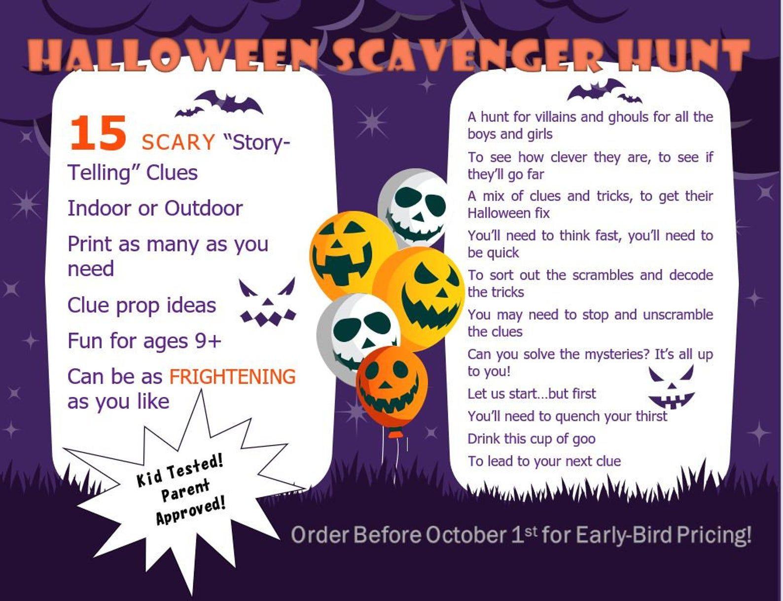 23++ Halloween treasure hunt outside ideas