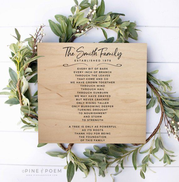 Wedding Gifts For Relatives: Gift For Parents 30th 40th 50th Wedding Anniversary Wood