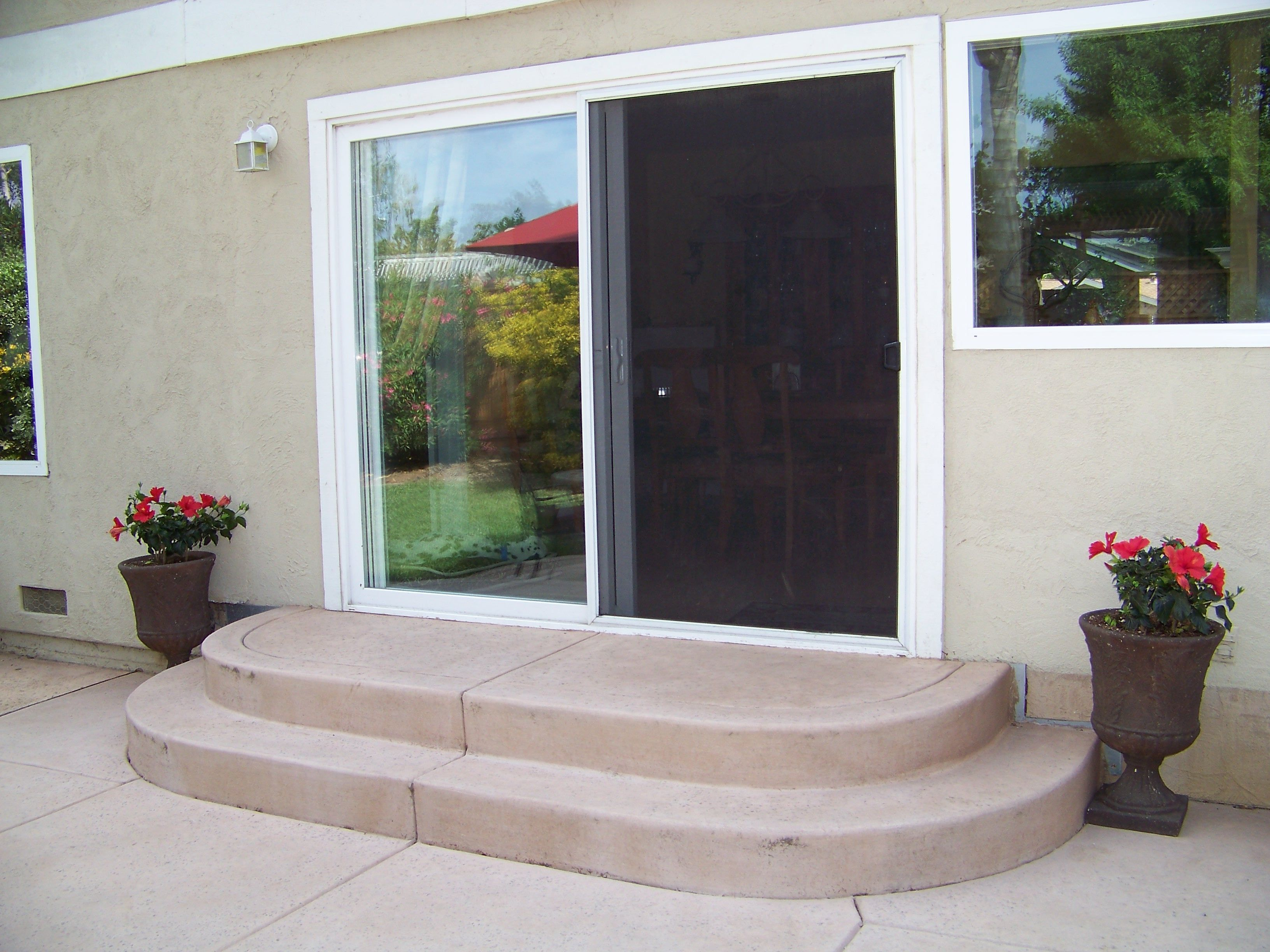 rounded concrete patio steps dream backyard patio pinterest
