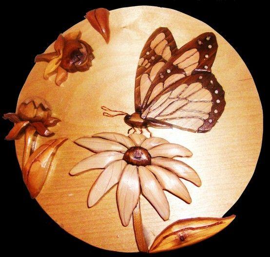 Butterfly on a flower   $55.00