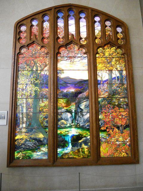 Tiffany Windows At The Met Autumn Landscape Tiffany Stained Glass Stained Glass Art Stained Glass Windows