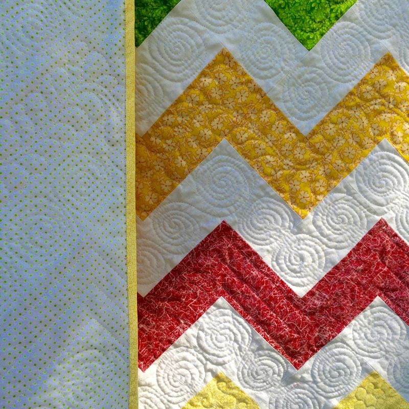 Chevron quilt with flannel backing and free motion quilting ... : chevron quilts for sale - Adamdwight.com
