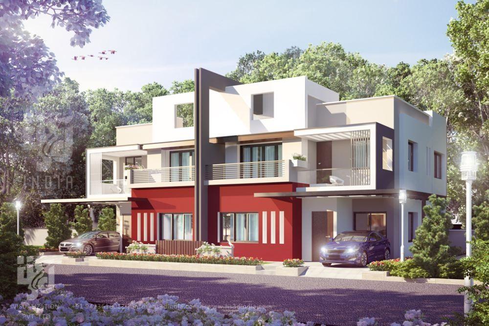 Town House, Modern Bungalow, House Elevation, 3d Architecture, Semi  Detached, Virtual Tour, Plans, Exterior Design, Cinema