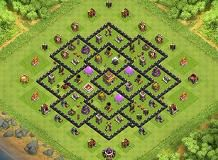 save trophy th8 th 8 clash of clans base layout