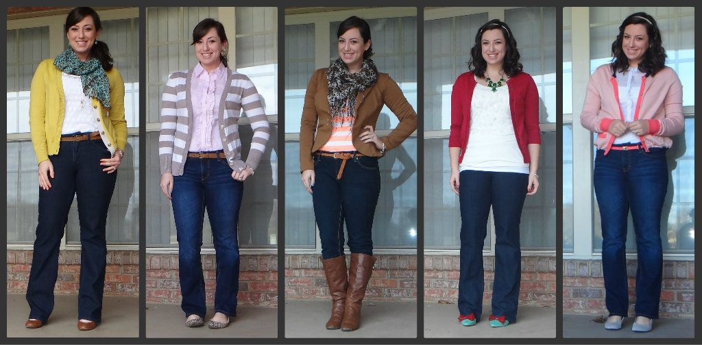 12426aeafc14e Along the Lines of Style --//-- 5 ways to style jeans outfits | Girl ...