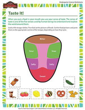 Taste It Free Kindergarten Science Worksheet Kindergarten Science Human Body Science Science Worksheets Tongue worksheet kindergarten
