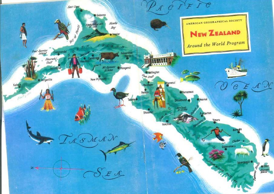 New zealand map page print vintage map art charming home decor new zealand map page print vintage map art charming home decor graphic wall art world map art colorful world maps travel decor gumiabroncs Image collections