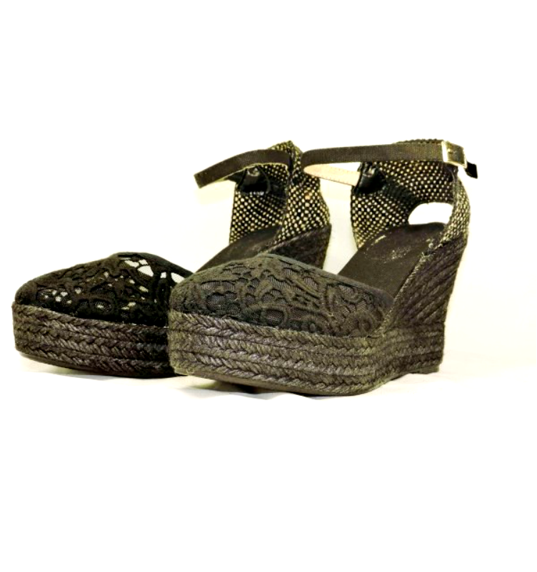 a9c822ec3d1 Valenciana Embroidered Wedge Espadrille Sandals are expertly handcrafted in  Spain by Casa Hernanz.  embroidered  wedges