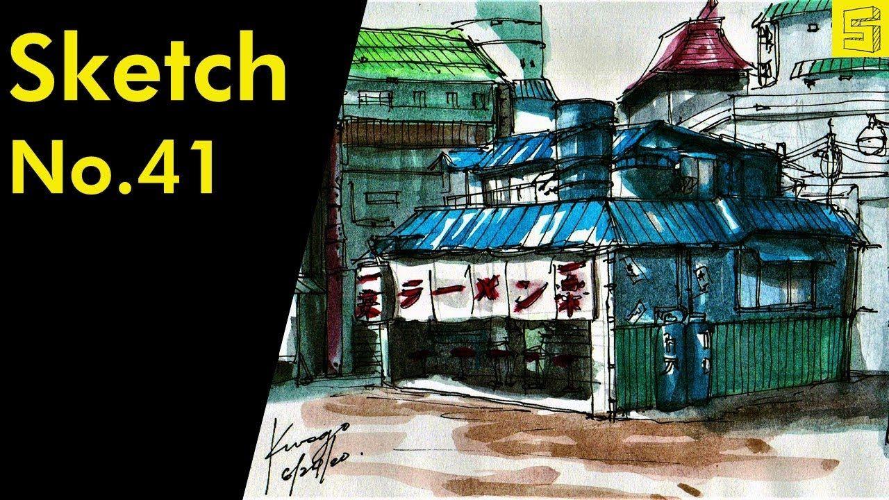 Ichiraku Ramen Shop in Naruto Perspective Drawing/Urban