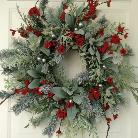 christmas wreath winter wreath holiday wreath elegant holiday wreath christmas wedding designer wreath elegant holiday wreath frosted wreath by - Elegant Christmas Wreaths