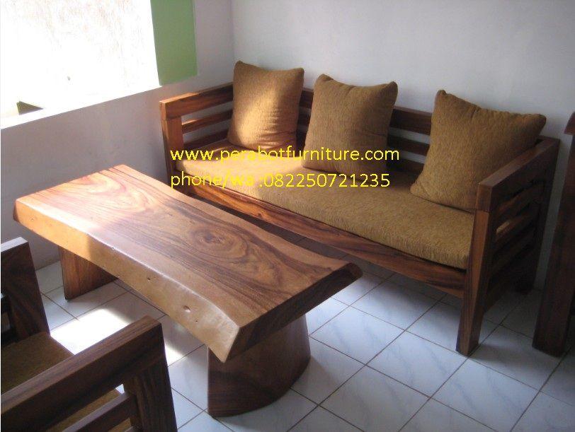 jual kursi tamu minimalis balok trembesi murah berkualitas dan menerima order berbagai macam custom furniture jepara