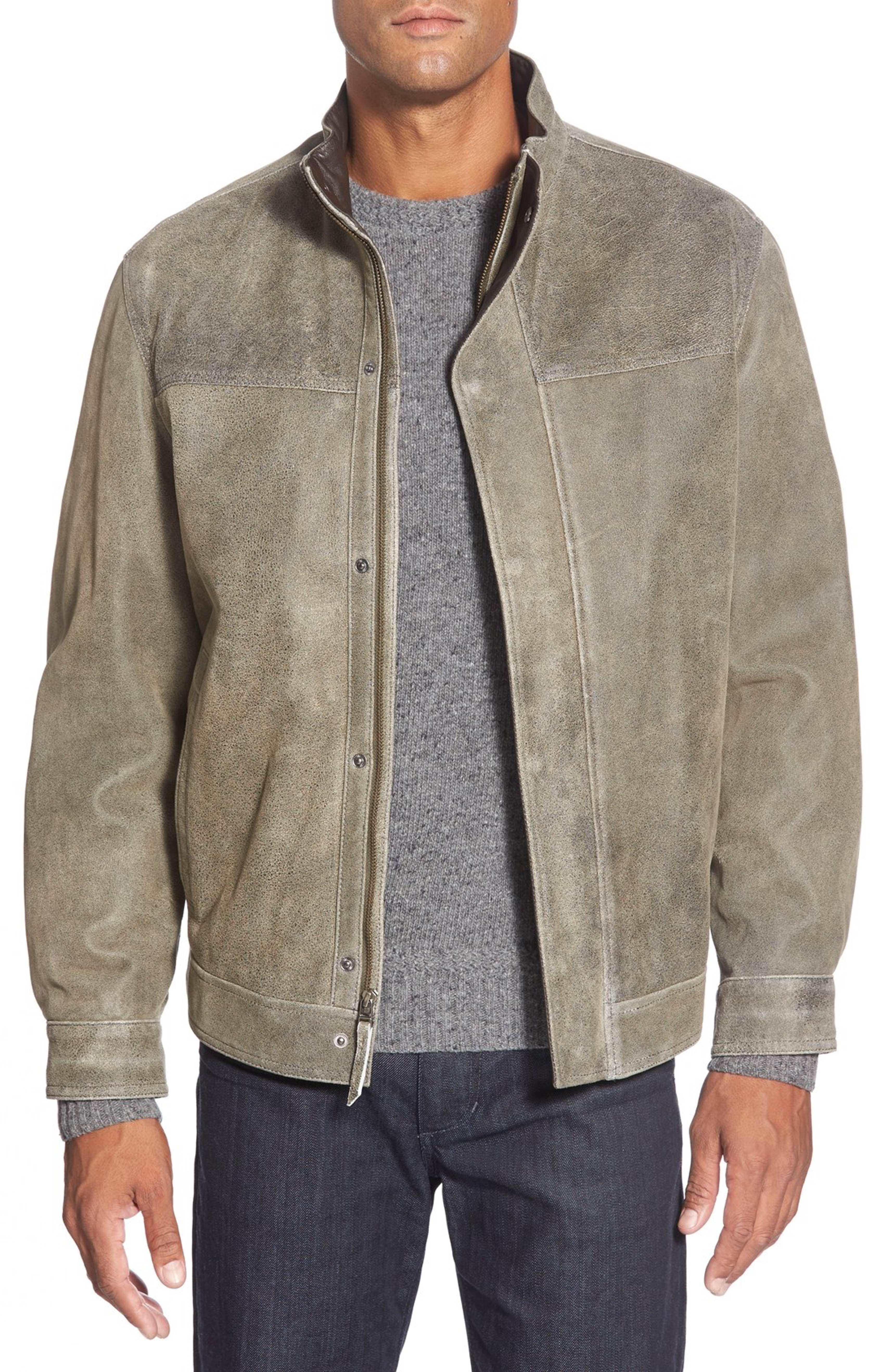 cheaper ca3de 1564b Main Image - Missani Le Collezioni Washed Leather Jacket ...