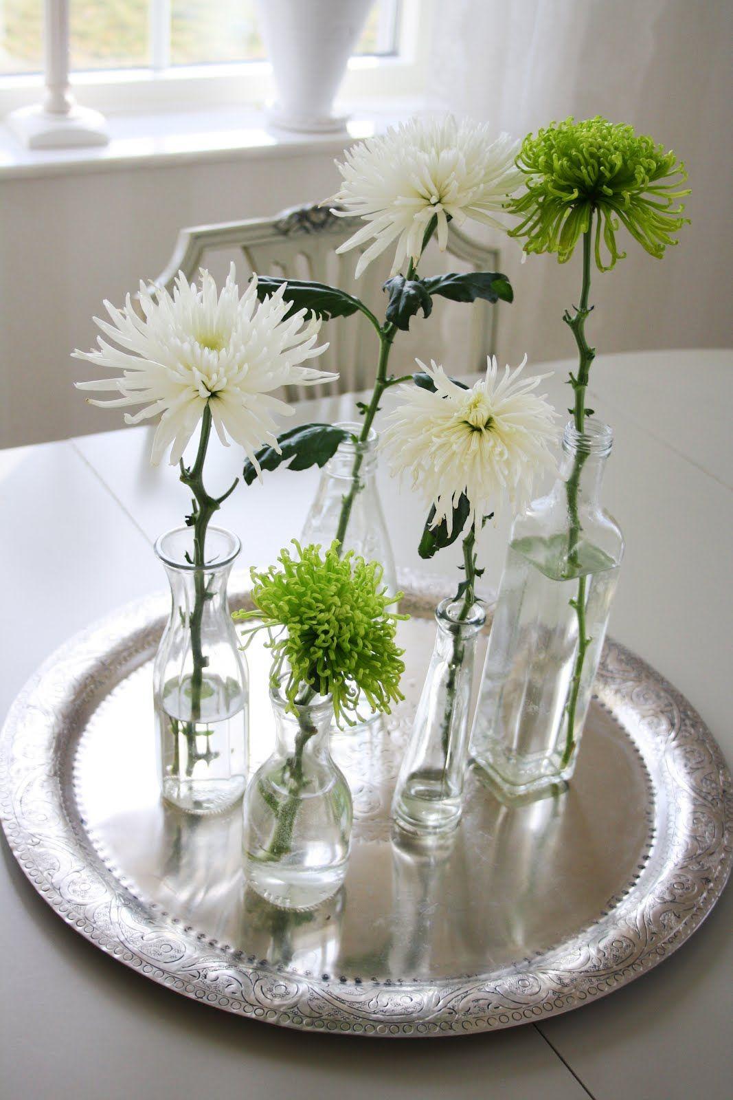 diverse vaasjes met takken o i d do it yourself pinterest table decorations floral en. Black Bedroom Furniture Sets. Home Design Ideas