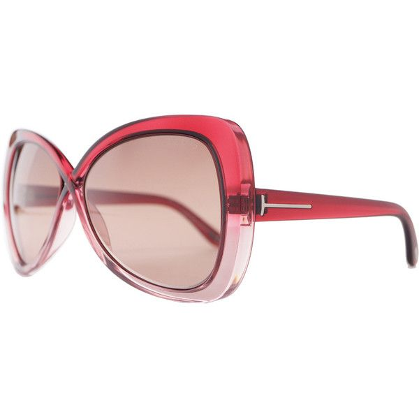 Tom Ford Women's 'Jade FT0277 68F' Butterfly Sunglasses ($210) ❤ liked on Polyvore