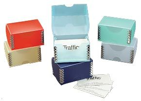 Business Card Metal Edge Box Traffic Works Inc Packaging Solutions Card Files Business Cards