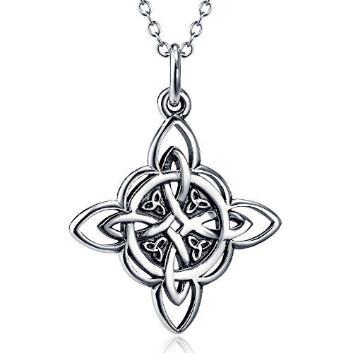 925 Sterling Silver Celtic Triquetra Trinity Knot Good Luck Pendant