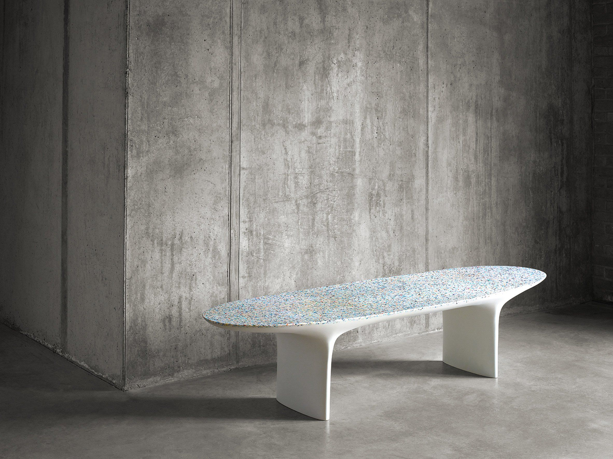 Designer Bro Neill has worked with recycled ocean plastic to produce new furniture pieces and
