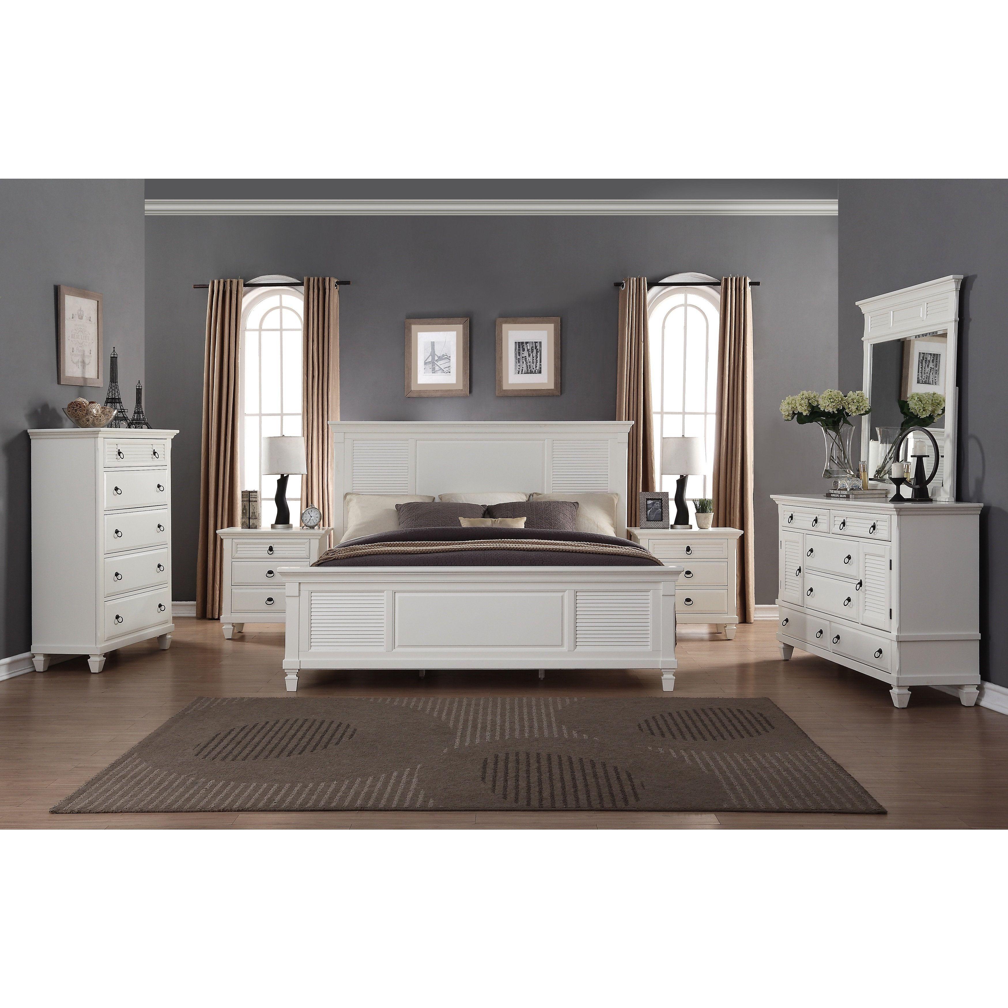 Regitina White 6 Piece King size Bedroom Furniture Set King